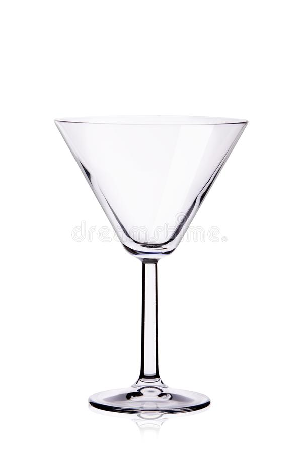 Goblet de cristal vazio para coquetéis fotos de stock