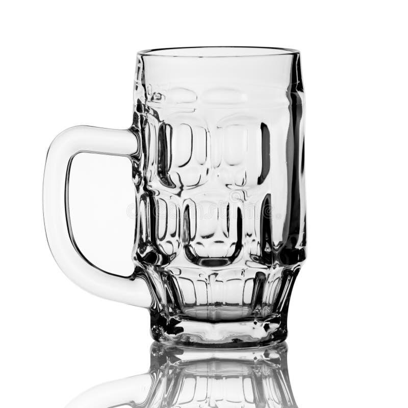 Goblet de vidro vazio para cerveja imagens de stock