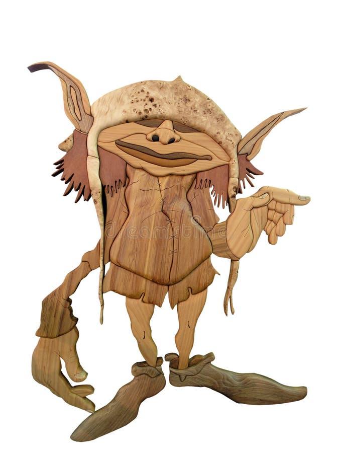 Goblin di legno fotografie stock libere da diritti