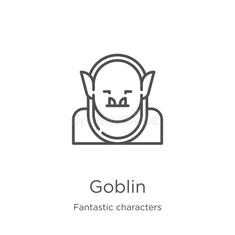 goblin icon vector from fantastic characters collection. Thin line goblin outline icon vector illustration. Outline, thin line vector illustration