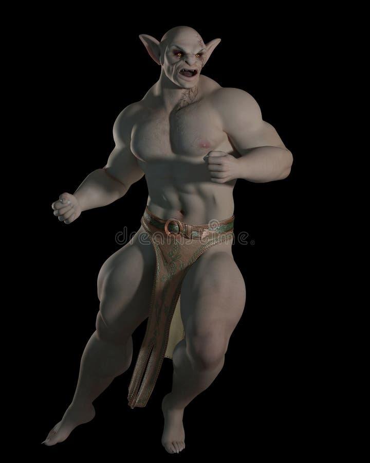 Goblin o campeón de la lucha del duende libre illustration