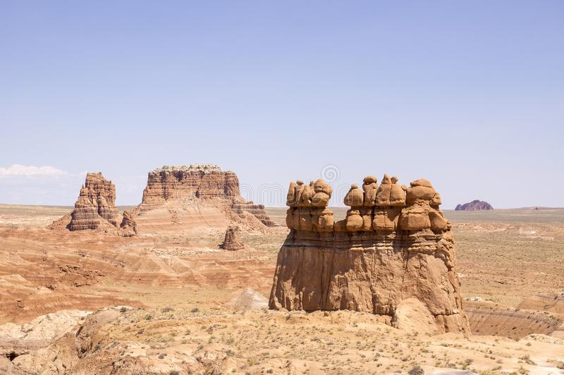Goblin Valley State Park - Utah - Petrified goblins...indeed!. Desert area, whimsically shaped rocks like petrified trolls ... fairytale-like. Its eminent stock photography