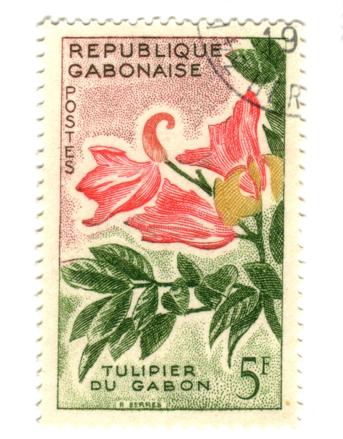Gobon stamp with flower royalty free stock photography
