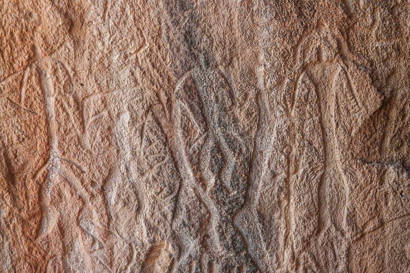 Gobustan岩石艺术文化风景,阿塞拜疆 免版税库存照片