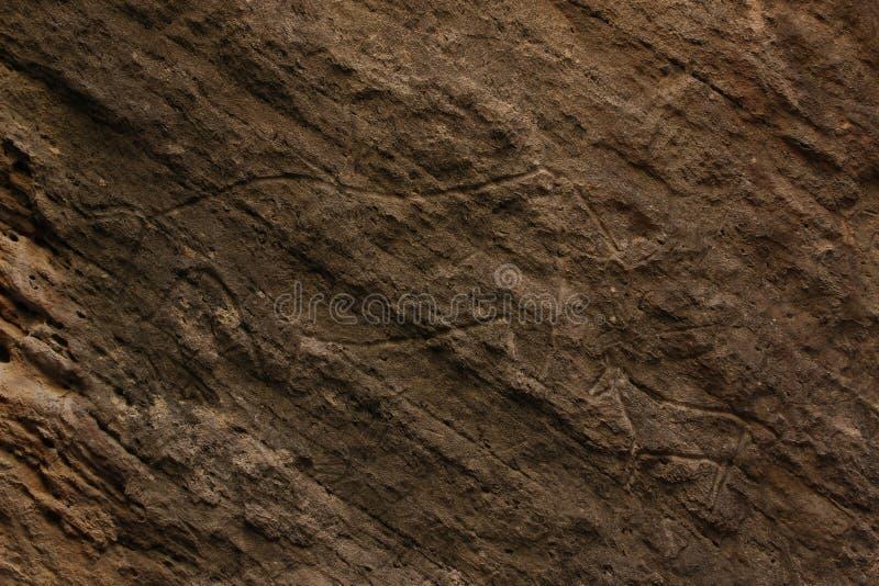 Gobustan Rock Art, prehistoric cave artwork, prehistory, history, old, animal, animals, Azerbaijan. An UNESCO-site located just south of Baku, capital city of royalty free stock image