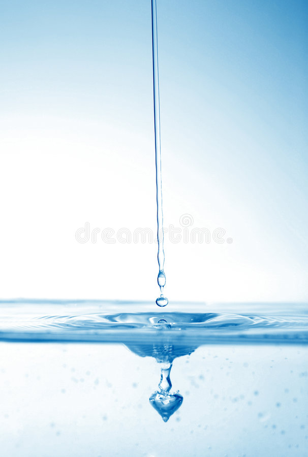 Gocce astratte dell'acqua immagine stock