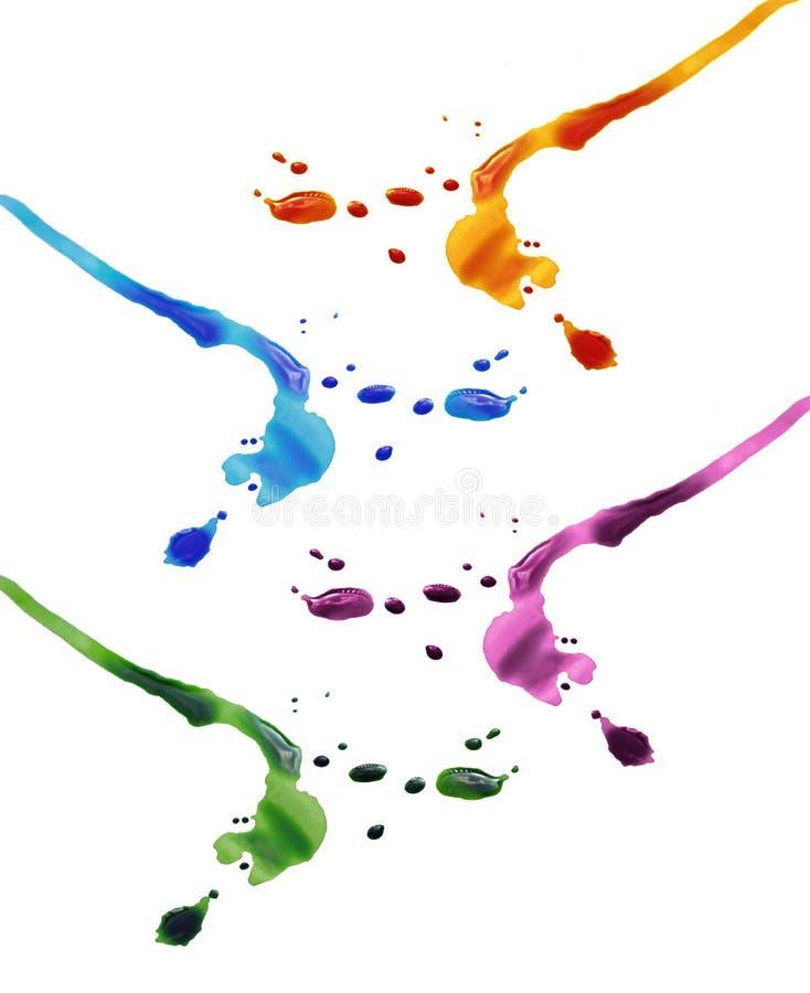 Gocce Colourful dell'inchiostro immagini stock