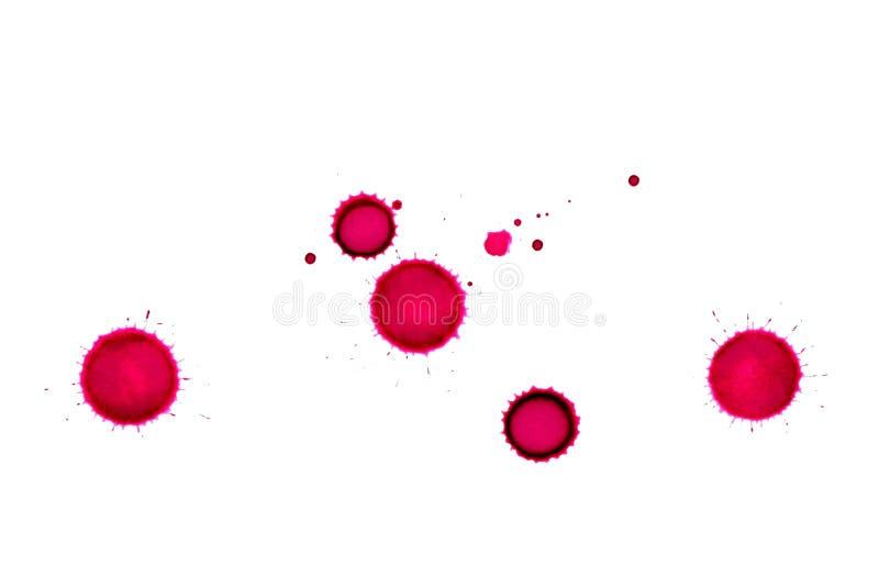 Gocce del sangue fotografie stock