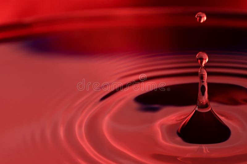 Gocce dell'acqua rossa del biglietto di S. Valentino immagine stock libera da diritti
