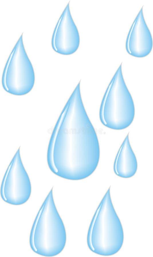 Gocce della pioggia illustrazione vettoriale