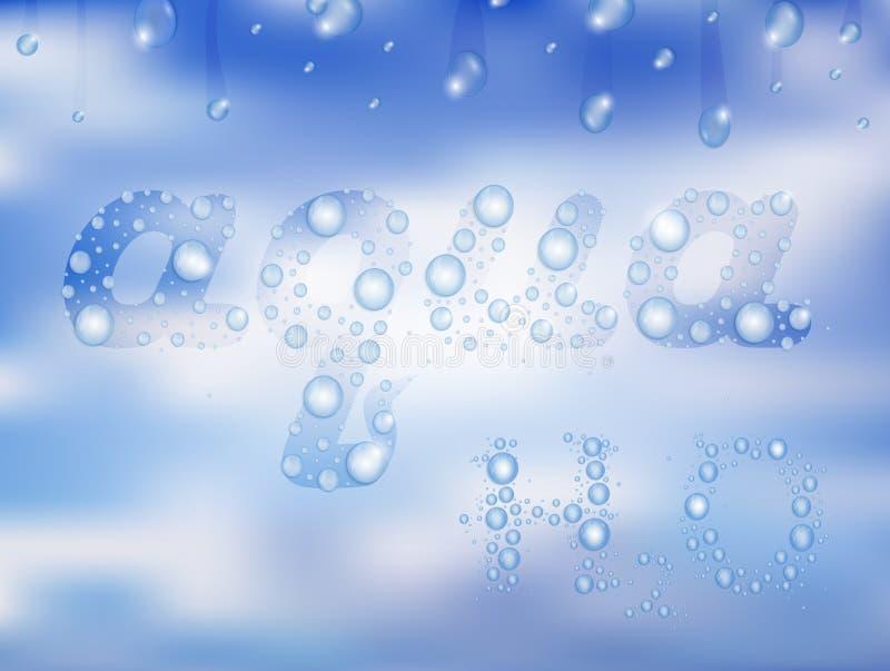 Gocce di acqua con fondo illustrazione vettoriale