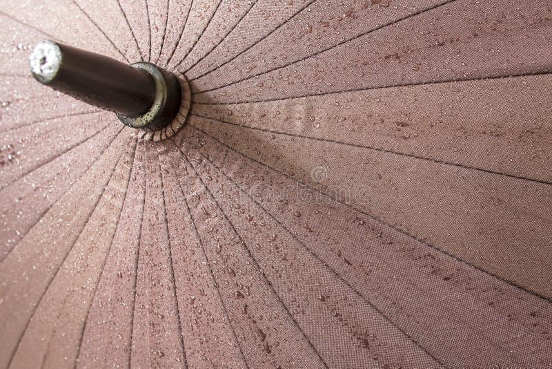 Gocce di acqua sull'ombrello fotografie stock libere da diritti