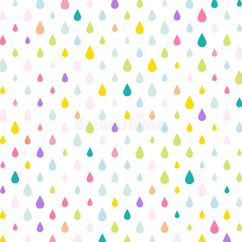 Gocce di pioggia di gocce acqua/di Unicorn Tears royalty illustrazione gratis