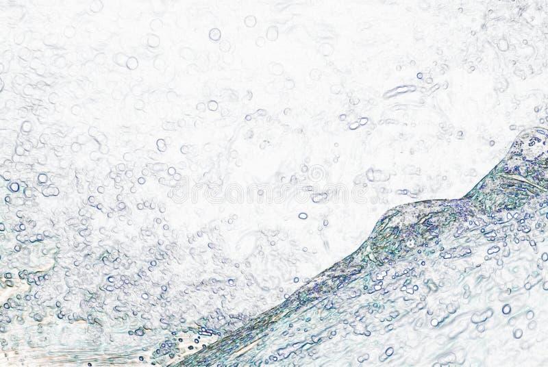 Gocce di pioggia che colpiscono acqua royalty illustrazione gratis