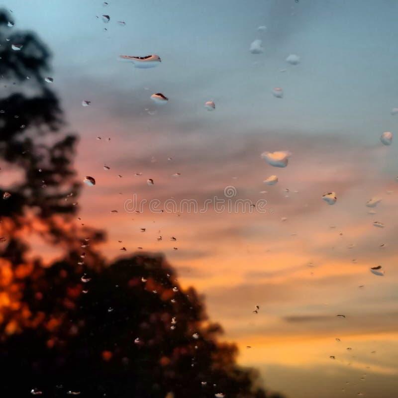 Gocce di pioggia della finestra immagine stock