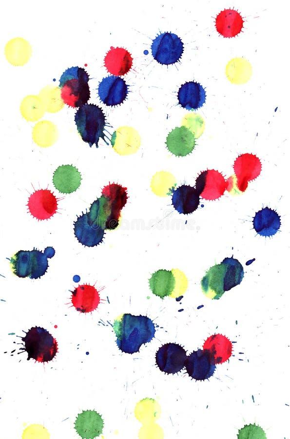 Gocce di vernice immagine stock