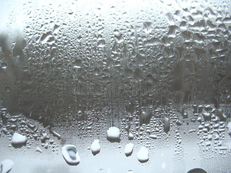 Gocce di vetro e della pioggia di finestra immagine stock