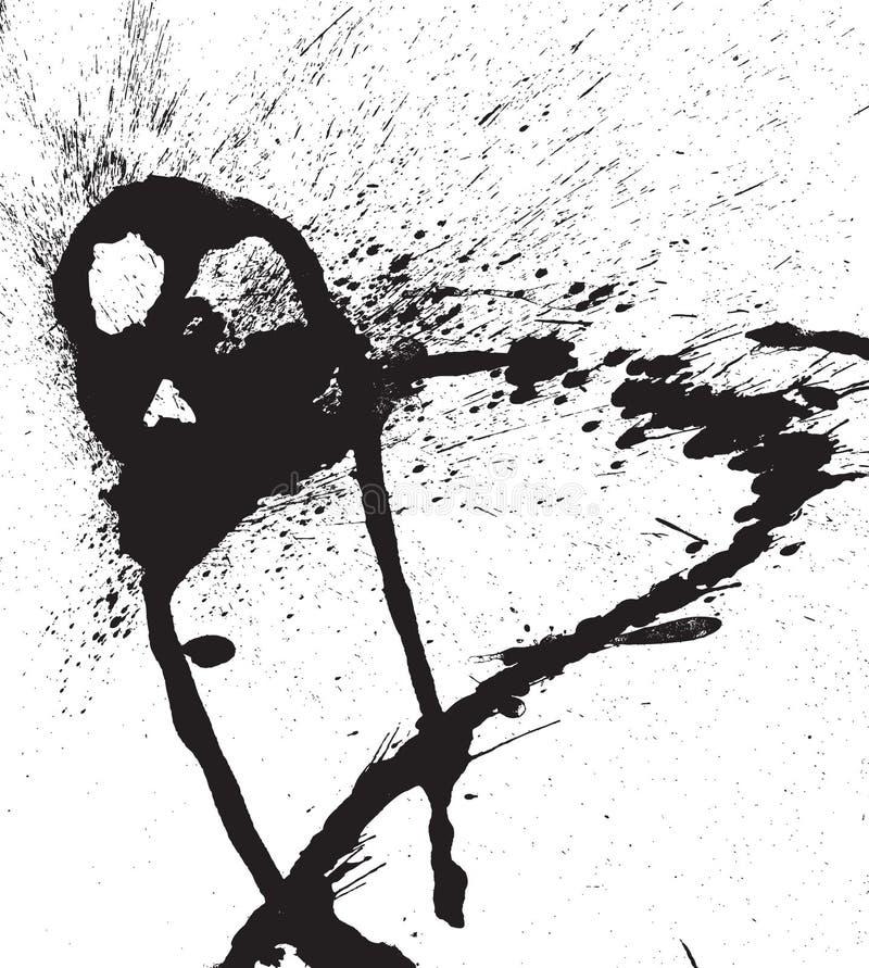 Gocce nere astratte dello spruzzo di vettore royalty illustrazione gratis