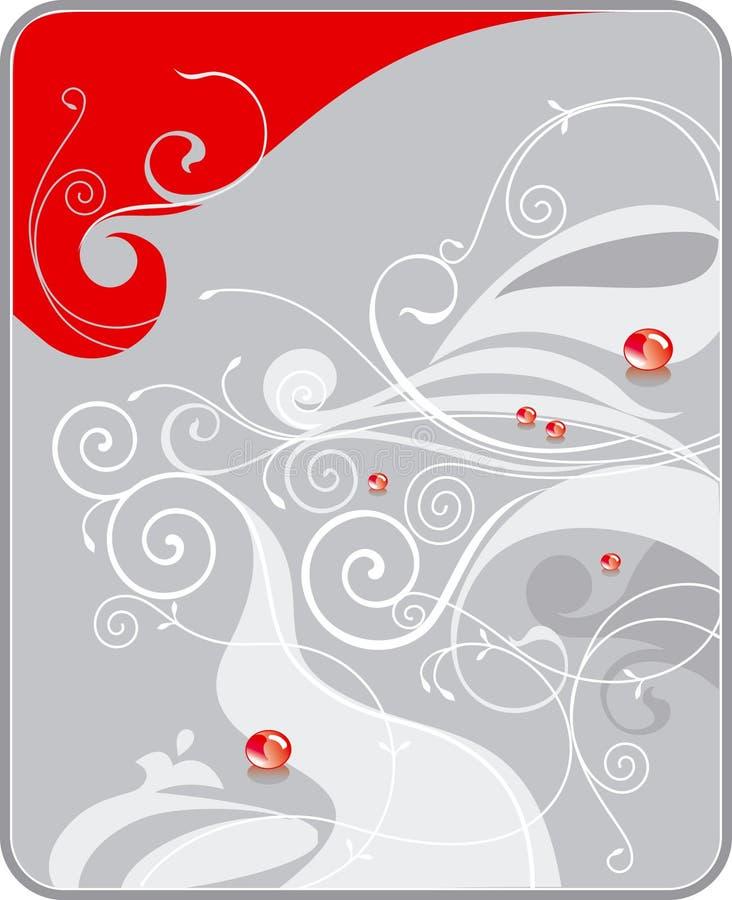 Gocce rosse illustrazione vettoriale