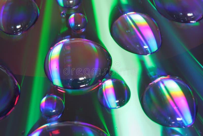Gocce su CD immagine stock