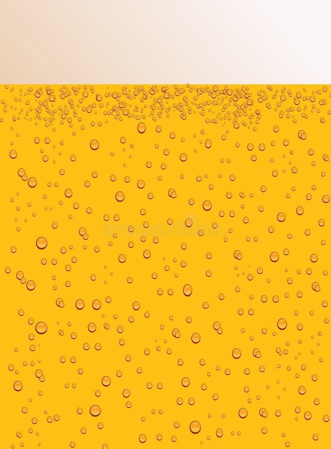 Gocce sul vetro di birra royalty illustrazione gratis