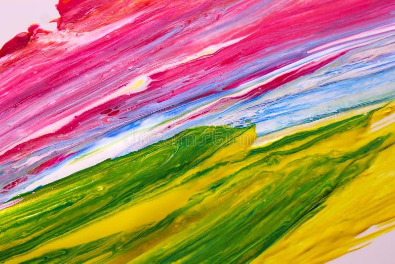 Gocce variopinte, gocce lucide isolate su fondo bianco, gocce della pittura ad olio dello smalto illustrazione vettoriale