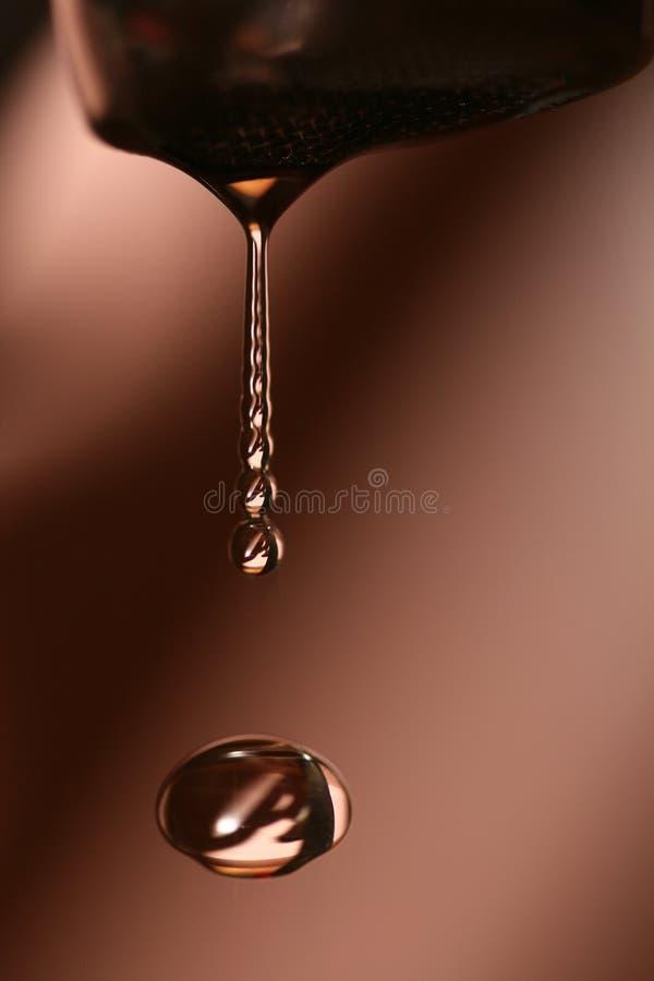 Goccia astratta dell'acqua fotografia stock