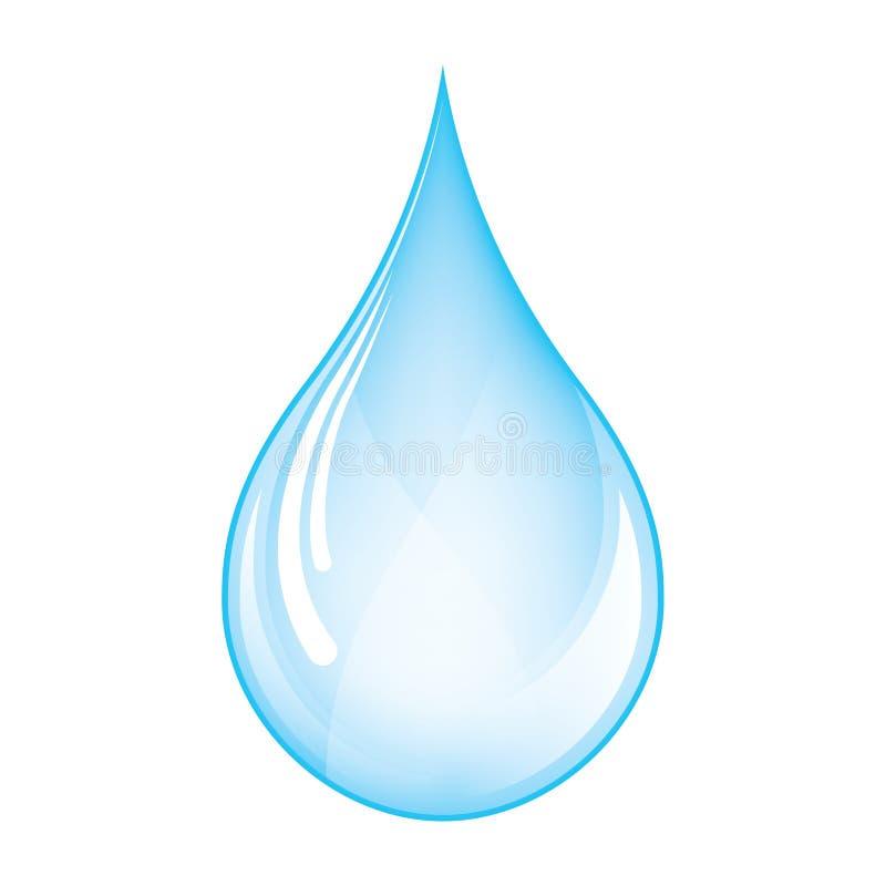 Goccia blu illustrazione vettoriale