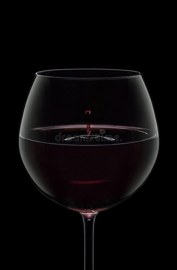 Goccia del vino immagine stock