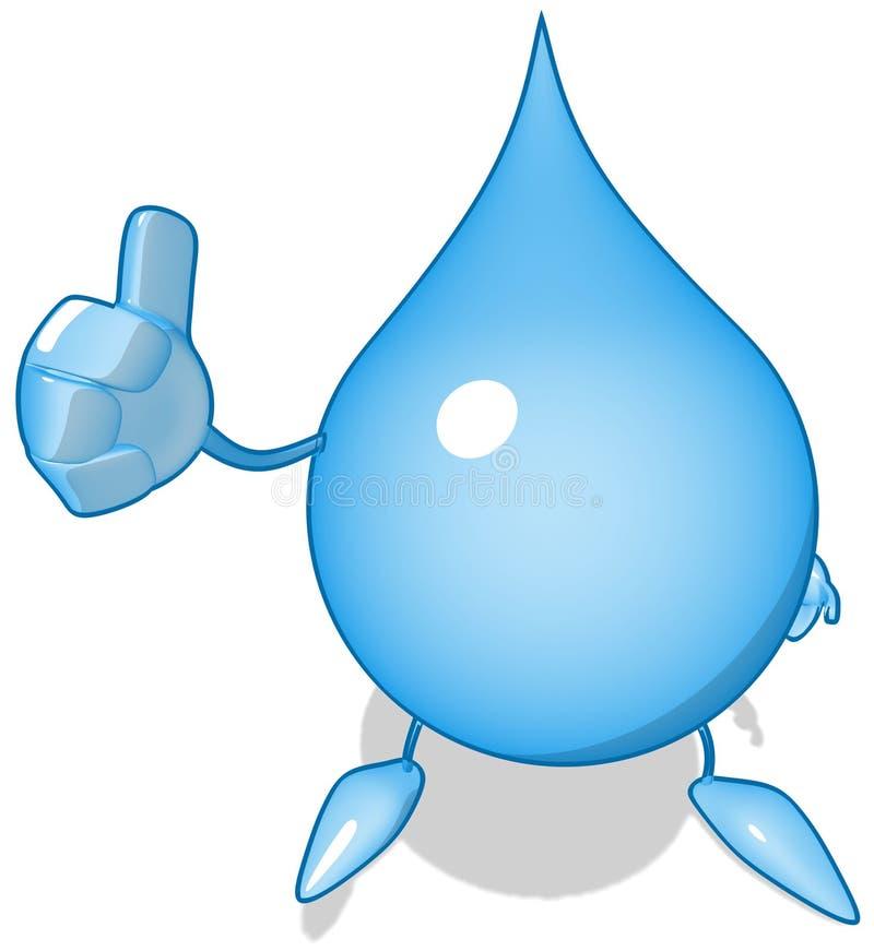 Goccia dell'acqua illustrazione di stock