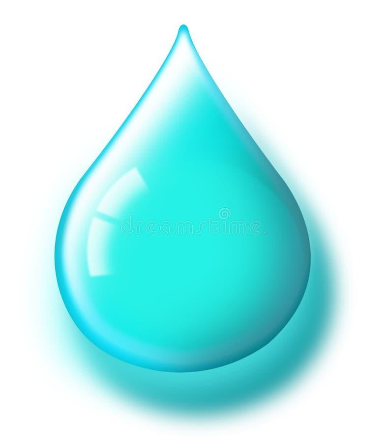 Goccia dell'acqua blu illustrazione di stock