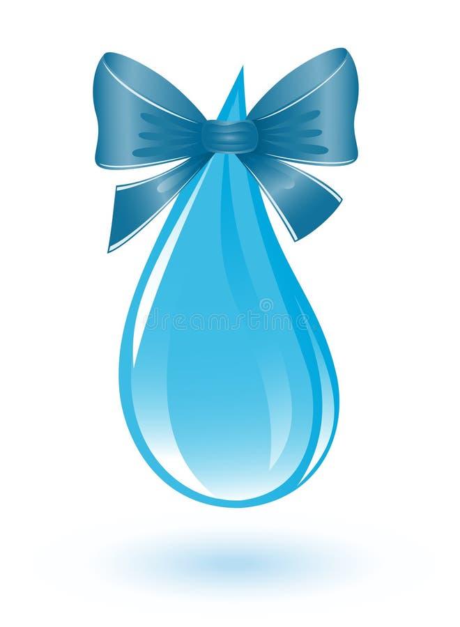 Goccia dell'acqua con il nastro illustrazione di stock