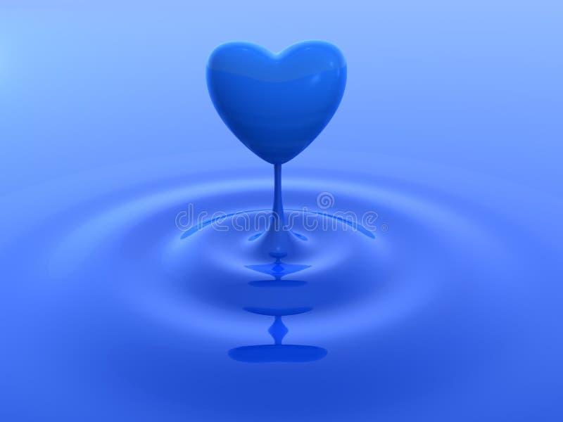 Goccia dell'acqua del cuore royalty illustrazione gratis