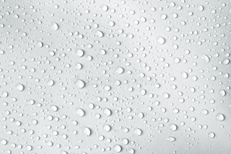 goccia dell'acqua su priorità bassa bianca immagini stock