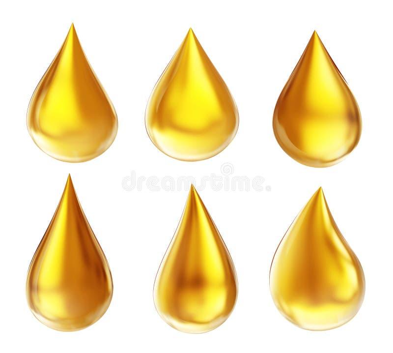Goccia dell'olio illustrazione di stock