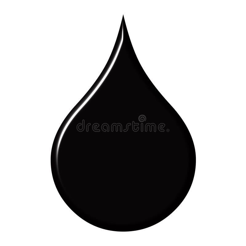 Goccia dell'olio illustrazione vettoriale