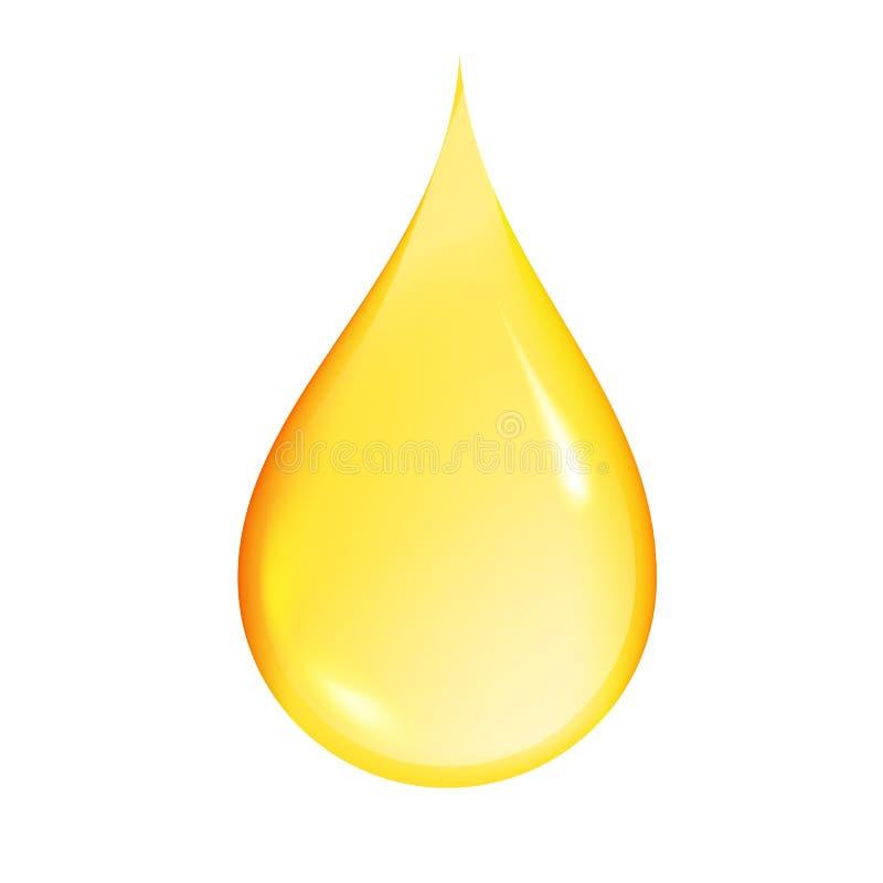 Goccia dell'olio isolata su fondo bianco Benzina o miele Illustrazione di vettore illustrazione di stock