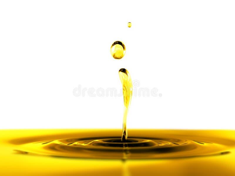 Goccia dell'olio su priorità bassa bianca royalty illustrazione gratis