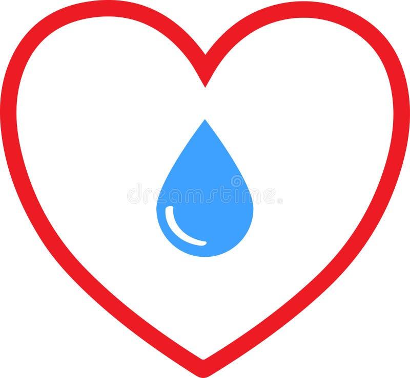Goccia di acqua di amore illustrazione vettoriale