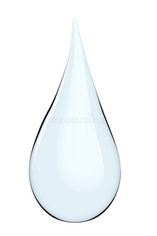 Goccia di acqua brillante blu illustrazione vettoriale
