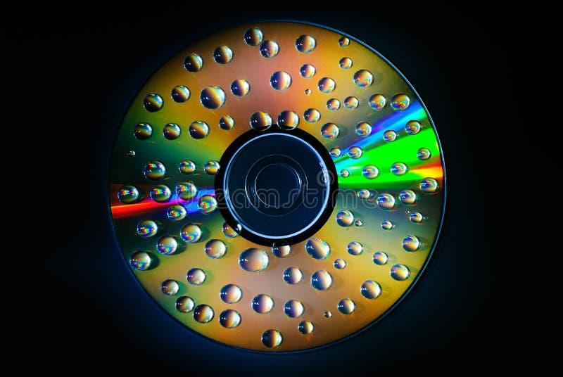 Goccia di acqua del CD di musica immagini stock libere da diritti