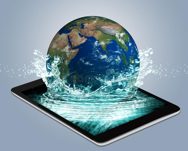 Goccia di acqua della terra illustrazione di stock