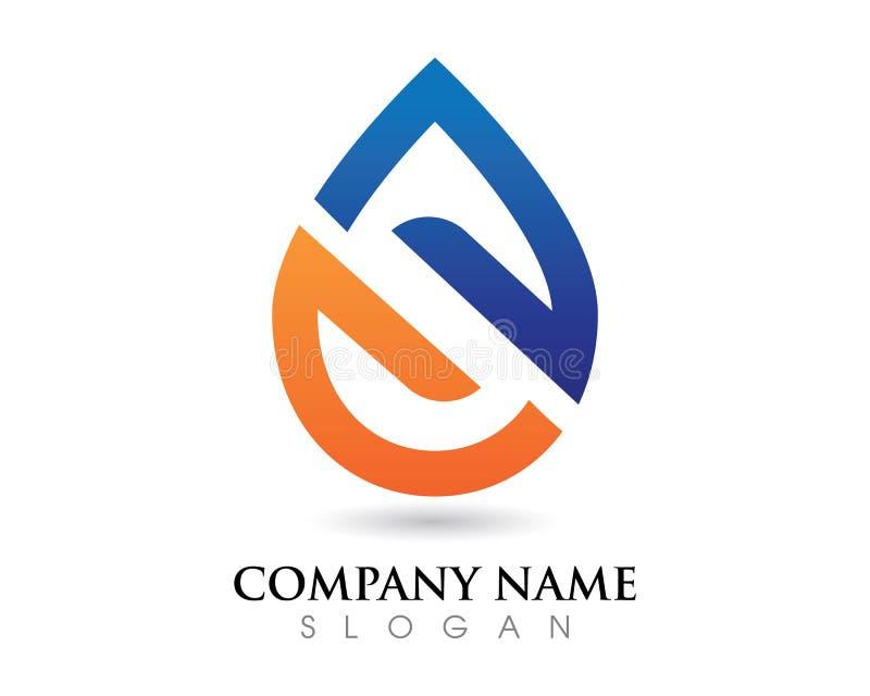 Goccia di acqua Logo Template illustrazione vettoriale