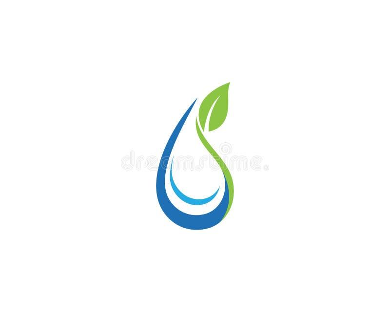 Goccia di acqua Logo Template royalty illustrazione gratis