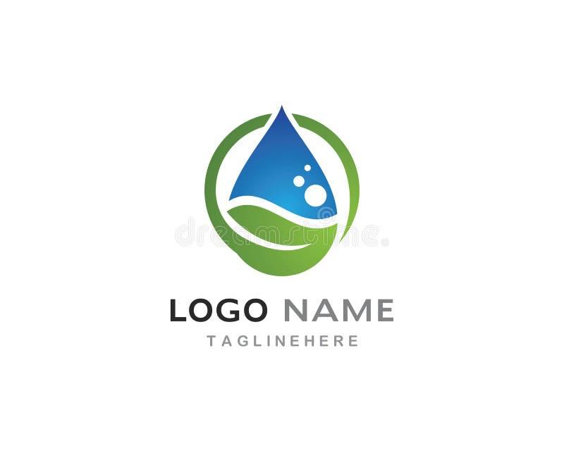 Goccia di acqua Logo Template illustrazione di stock