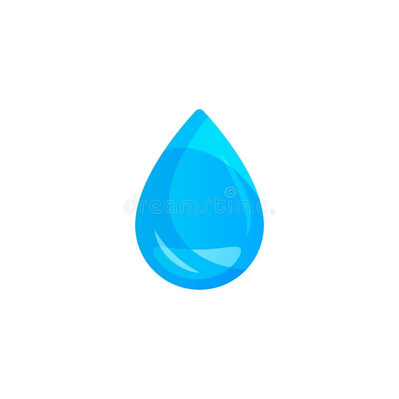 Goccia di acqua su fondo leggero Trasparenza soltanto nel formato di vettore illustrazione di stock