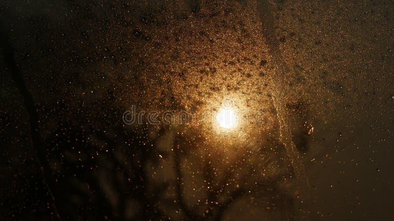 Goccia di acqua sul vetro immagine stock