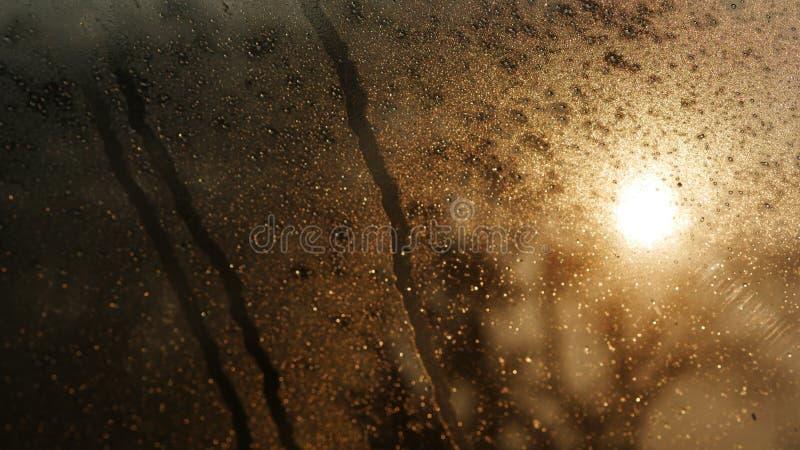 Goccia di acqua sul vetro fotografia stock