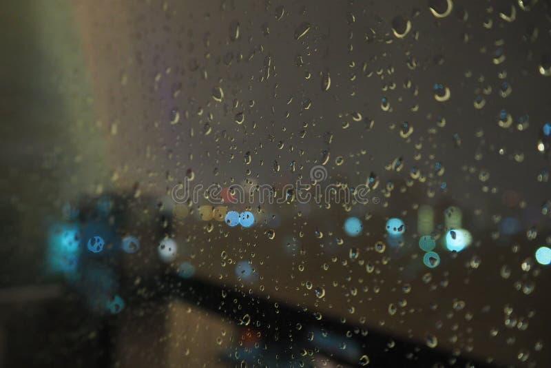 Goccia di acqua sulla finestra immagini stock