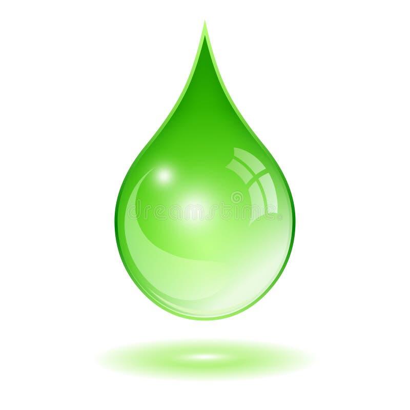 Goccia di acqua verde illustrazione di stock
